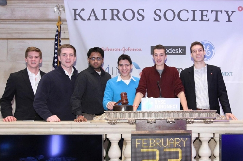 Jamasen Rodriguez at the NYSE during the Kairos Society Summit.